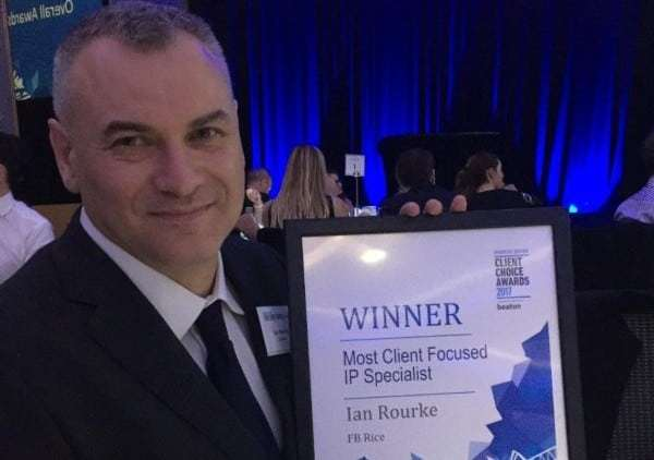Insights on business, sales and trust from Ian Rourke of FB Rice – Australia and NZ's most client-focused IP specialist for 2017